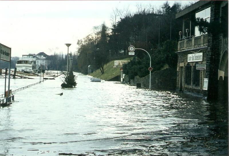 Hochwasser an der Bastei