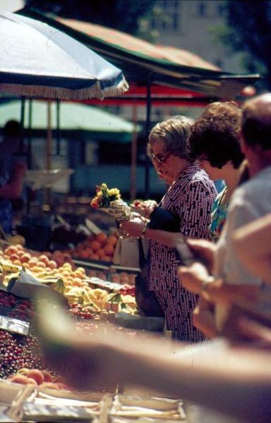 Wochenmarkt Moltkeplatz ca. 1972
