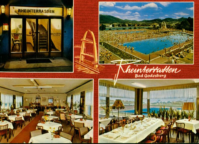 Postkarte Rüngsdorfer Freibad