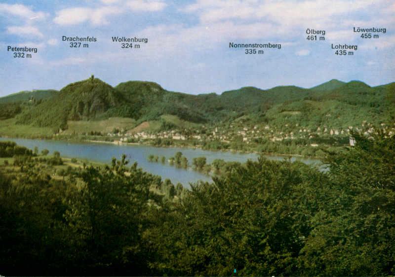 Postkarte Das Siebengebirge